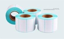 купить 15 rollsPOS thermal label paper 40 x20 mmThermal printer  Thermal Labels waterproof barcode blank stickers (total 15000 labels) онлайн