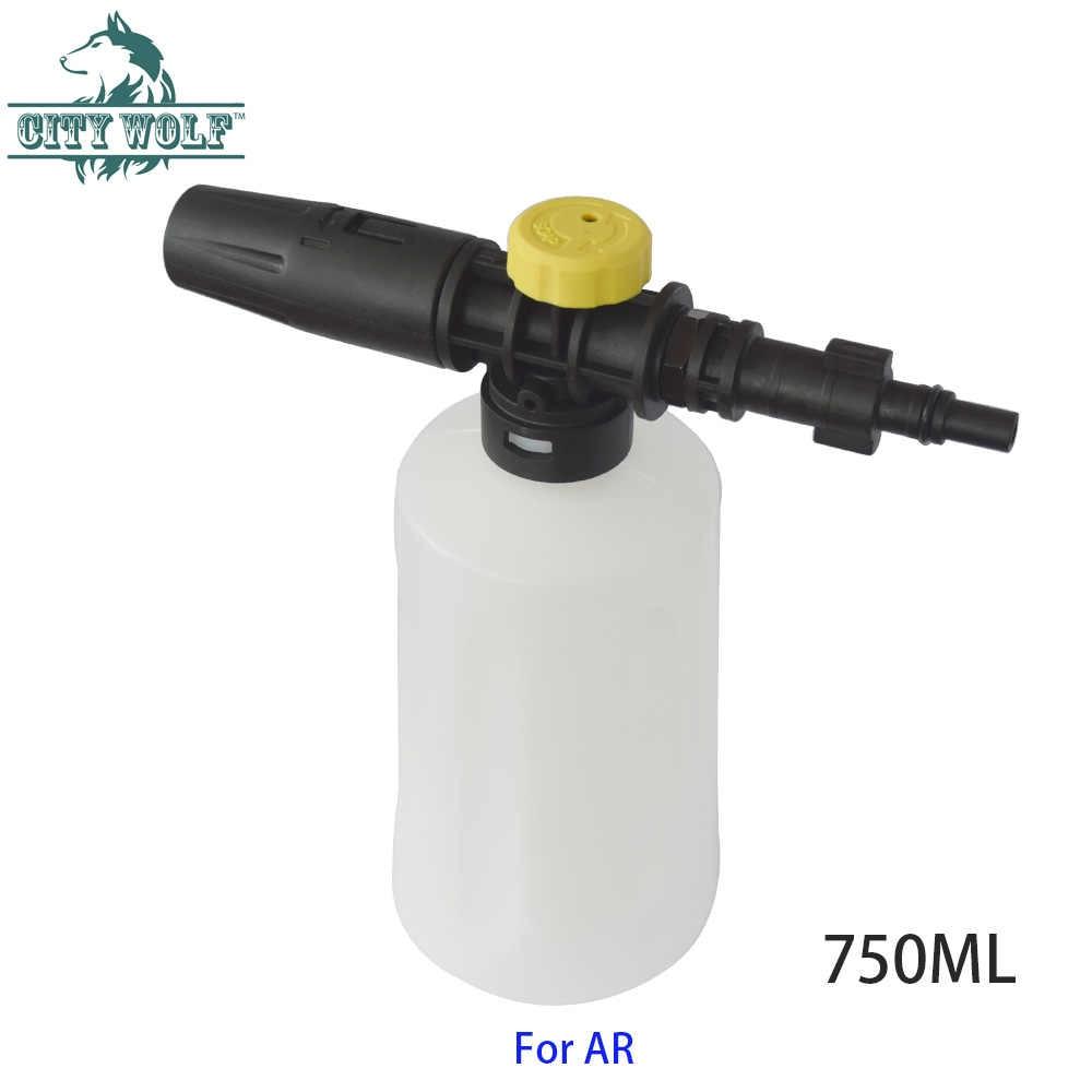 Şehir kurt araba yıkama kar köpük aparatı 750ML sabun püskürtücü şişe siyah & güverte AR Makita Bosch yüksek basınçlı yıkayıcı aksesuarları