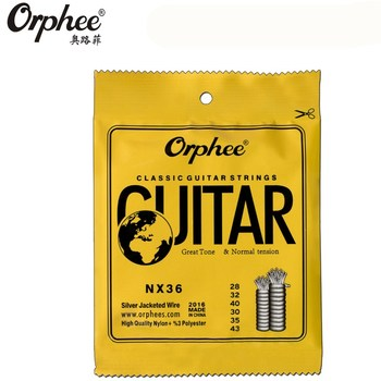 Orphee NX36 028-043 Classical Guitar Strings nylon silver jacketed wire Vacuum Packaging guitar parts