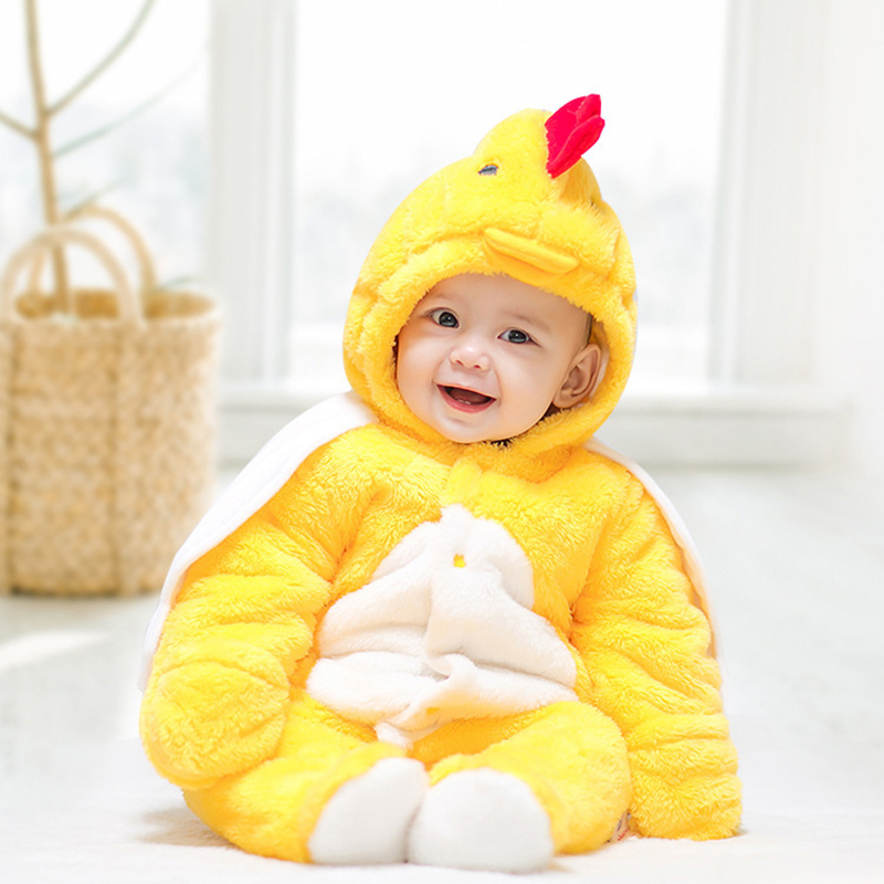 Baby Children's Yellow Chicken Anime Costumes Halloween Costume For Kids Pure Cotton Three Kinds Of Color Cosplay Costume