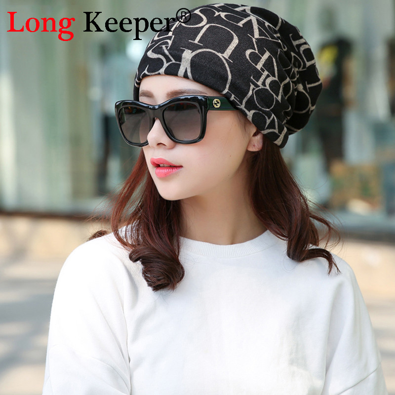 Long Keeper Hot Sale Korean Women Piles Cap Cover Headgear Warm Beanies Winter Scarf Knitted Hat Hip Skullies Girls Gorros skullies hot sale female tide leather braids knitted cap autumn and winter women s curling ear warmers headgear 1866784