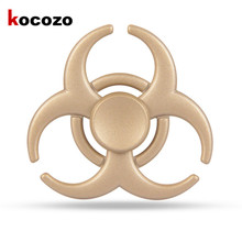 Colorful Creative Funny Metal EDC Hand Spinner Tri-Spinner Bearing Fidget Finger Gyro Kids Adult Focus Toy