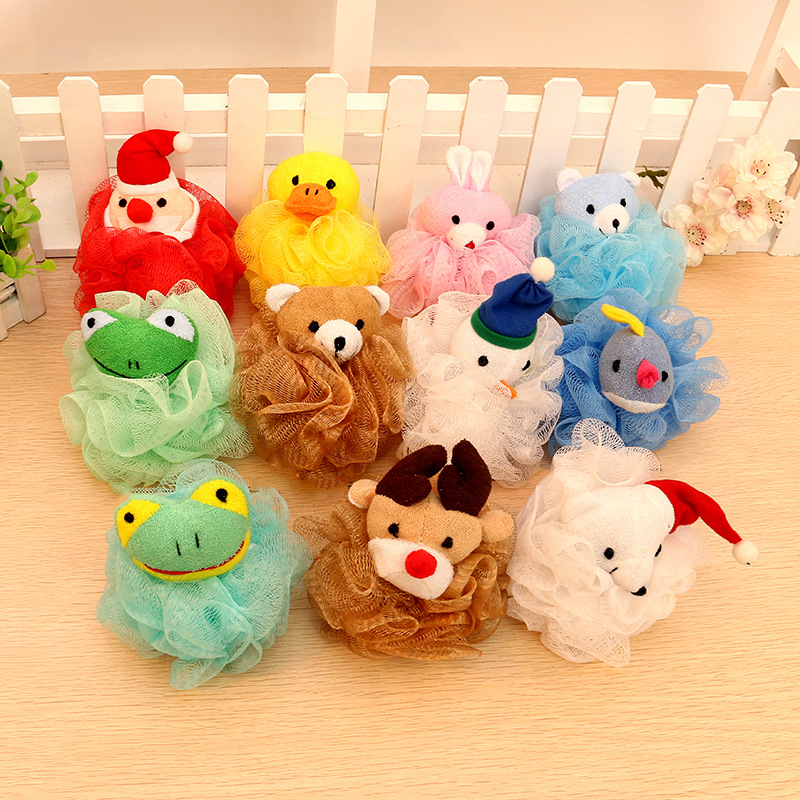 Cartoon Ball-shape Infant Shower Sponge Cotton Rubbing Body Wash Towel Brand Newborn Baby Bath Brush Child Shower Bath Product
