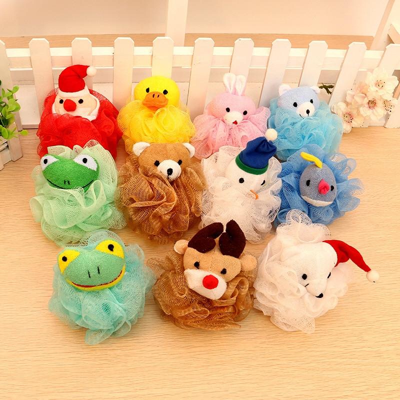 Cartoon Ball-shape Infant Shower Sponge Cotton Rubbing Body Wash Towel Brand Newborn Baby Bath Brush Child Shower Bath Product