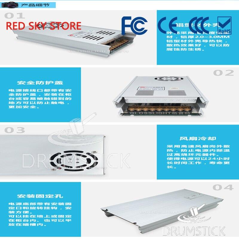 Commutateur de courant LED directe d'usine 24V 21A 500W lampe avec moniteur de boîte à lumière 24V500W transformateur de puissance - 5