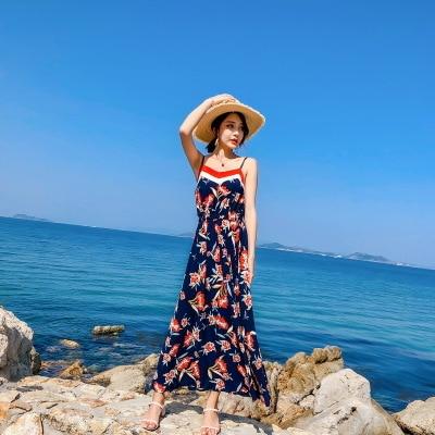2018 femme d'été Thai style jupe harnais robe Bikini bord de mer vacances robe jupe robes de plage bord de mer vacances robes mince - 2