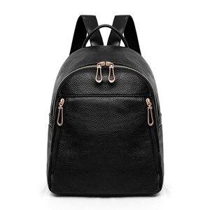 Image 2 - 2019 Kadın Deri kızlar için sırt çantaları Kese Dos Mochilas Seyahat Rahat Daypacks okul sırt çantası Kadın Vintage Sırt Çantası Bayanlar