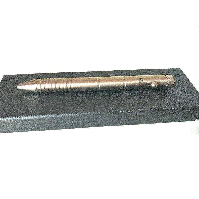 1PC Portable Titanium Alloy Tactical Defense Bolt Pen Metal Signature Writing Pen EDC Broken Window Self-defense Multi-tool