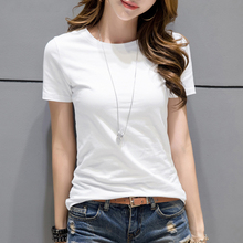 High Quality 15 Color S-3XL Plain T Shirt Women Cotton Elastic Basic T-shirts Female Casual Tops Short Sleeve T-shirt Women все цены