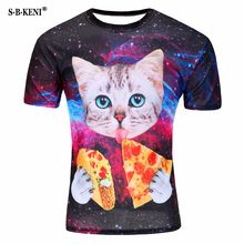 1ba399c2 2019 More New Pizza cat printed T shirt men summer creative men of new 3D  Short sleeve tee t shirt female psychedelic clothes