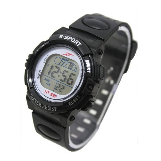 Fashion Boy Girl Sport Digital Watch LED Light Children Wrist Watch Alarm Date e