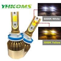 YHKOMS H7 H11 LED Car Headlight 9005 HB3 9006 HB4 H8 9012 H1 H3 880 881