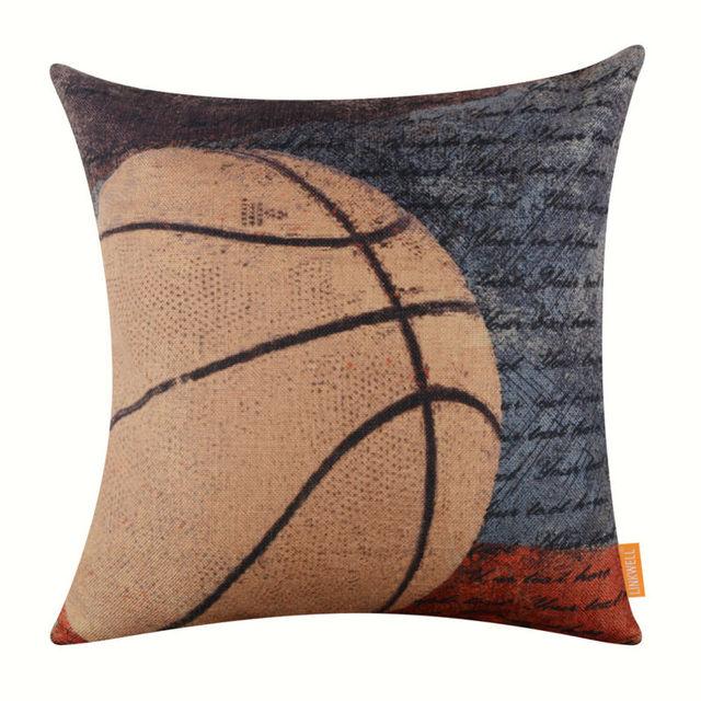 Retro Basketball Cushion Cover