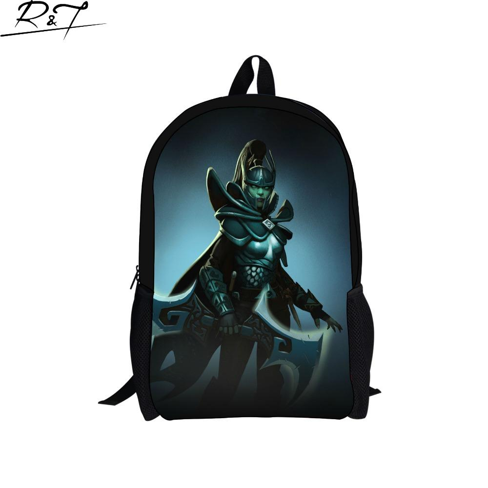 9edbbe571748 Hot online games defense of the ancients printing backpack men cool jpg  1000x1000 Cool backpacks for