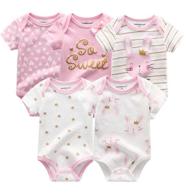 Kiddiezoom детские комбинезоны пижамы для маленьких девочек Дети Bebe Infantil одежда для новорожденных одежда из хлопка Одежда для маленьких мальчиков, Товары для детей - Цвет: baby girl romper5200