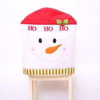 1 Pcs Santa Clause Red Hat Christmas Gift Chair Back Covers Christmas Dinner Decor Party Supply