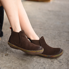 Original 2016 new autumn and winter retro genuine leather women boots casual shoes ankle boots