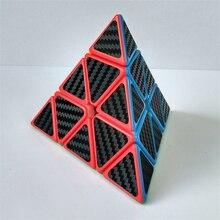 2017 Новый Z-куб Углеродного Волокна Pyraminx Стикер Скорость Magic Cube Мэджико Кирпичи Блокировать Развивающие Игрушки для Детей