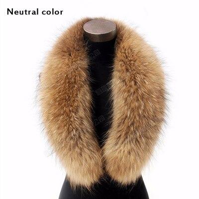 Зима, воротник из натурального меха енота и женские шарфы, модное пальто, свитер, шарфы, воротник, роскошный мех енота, шейный платок - Цвет: B