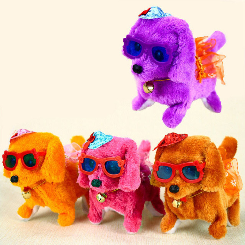 New Creative Plush Toy Dog Vocal Bright Forward Backwards Dog Electric Children's Toys Plush Children's Music Toys
