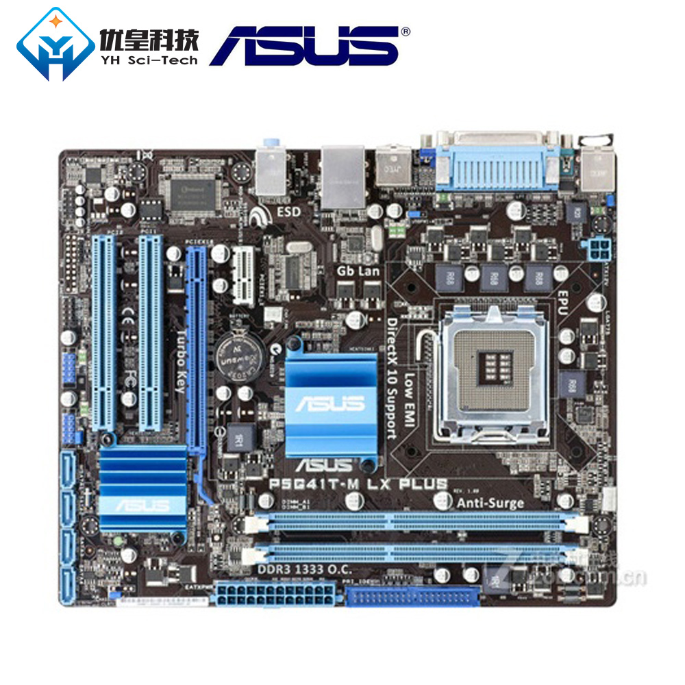 Asus P5G41T-M LX PLUS <font><b>Intel</b></font> G41 Original Used Desktop Motherboard Socket LGA 775 Q8200 <font><b>Q8300</b></font> DDR3 8G u ATX image