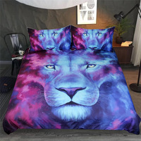 Wongs Bedding 3d Lion Printed Comforter Bedding Sets Queen King Twin Full Size Bedclothes Duvet Cover bedlinen 3pcs