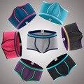 3pcs/lot New fashion male underwear boxers antibiosis comfortable breathable Modal U convex design for mens boxer shorts