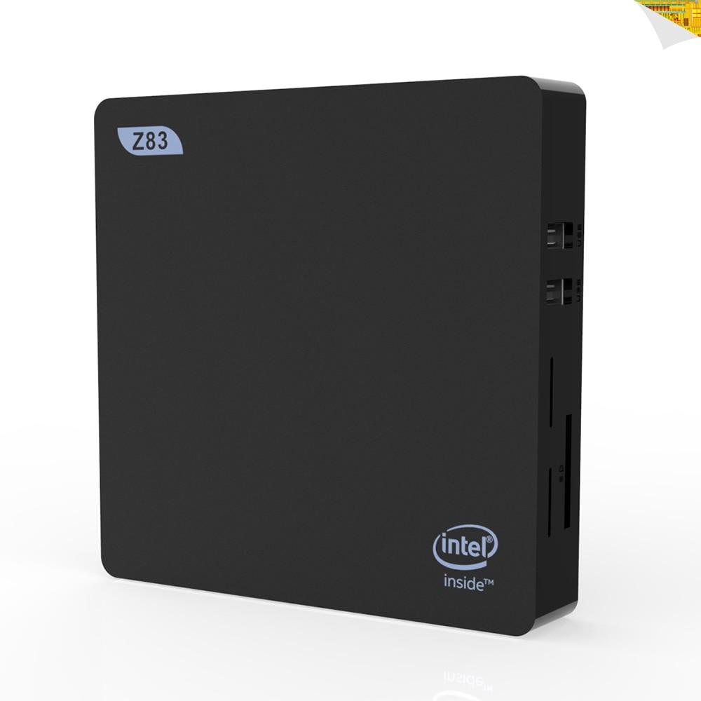 New Z83V Smart Mini PC 2G 32G WINS OS Intel Atom X5-Z8350 2.4GHz / 5GHz WiFi 1000M LAN Bluetooth4.0 USB 3.0 HDMI1.4 TV Box z83v mini pc tv box intel atom x5 z8350 fanless x86 mini pc lan usb 2gb ram 32gb rom bluetooth wifi set top box