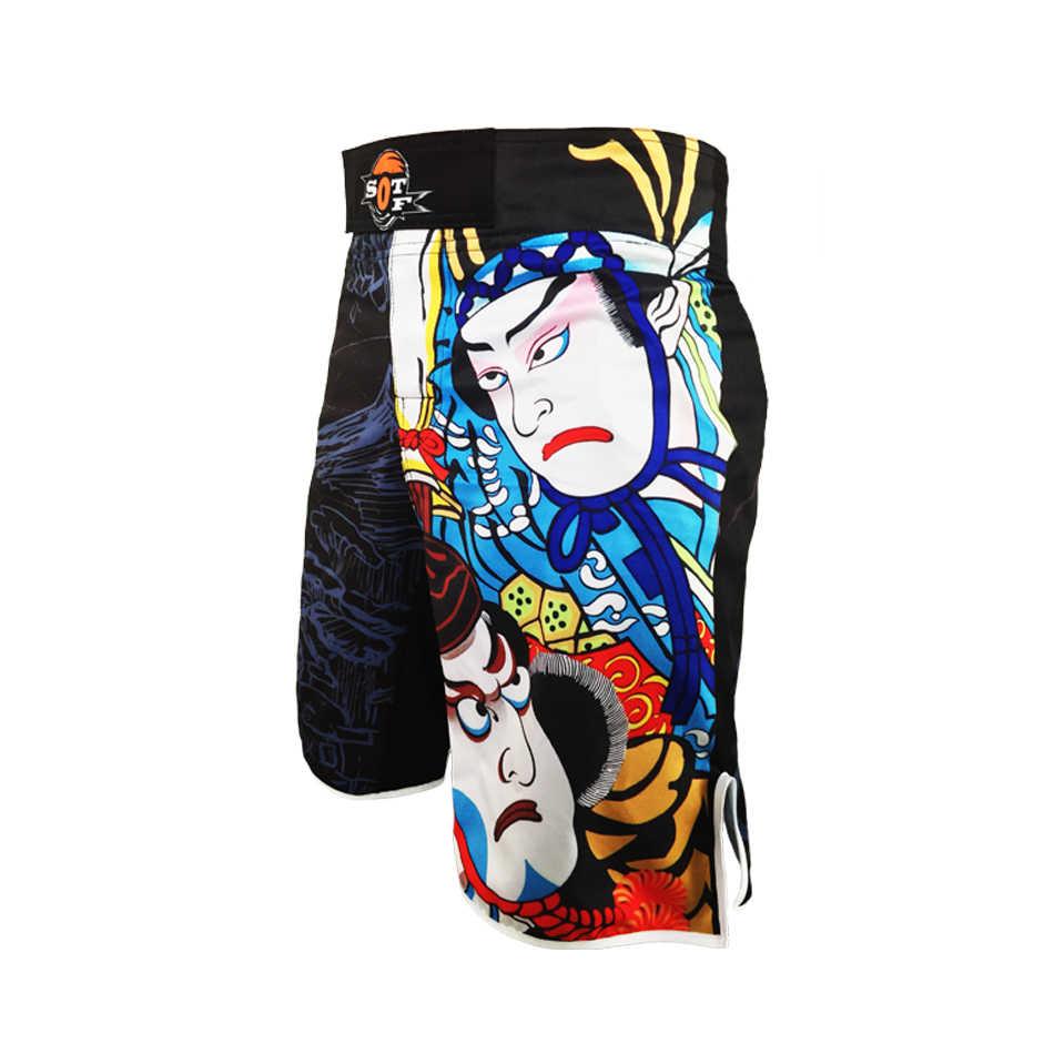 Sotf MMA Muay Thai Tinju Celana MMA Celana Pendek Thai Tinju Celana Pendek Tiger Muay Thai Memakai Yokkao Melawan Celana Pendek Bermuda MMA Pendek