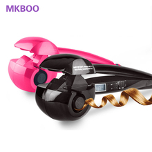 Automatic hair curler with LCD Hair Roller curl Hair Crimper Styler tools Wave Wand Curling Iron curlers rollers EU US Plug