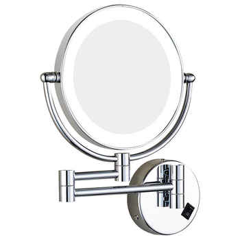 GURUN Lighted Vanity 7X Magnification Makeup Mirror Bathroom Wall Mount Double Sided Extendable Magnifying Shaving Mirror Chrome - DISCOUNT ITEM  0% OFF All Category
