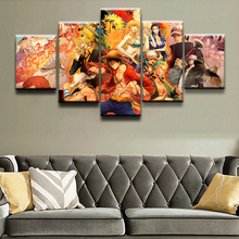Straw Hat Pirates Return to Sabaody 5 Piece Canvas Wall Art