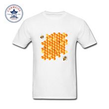 2017 Funny Hip Hop Printed Funny bee nest Cotton Funny T Shirt for men