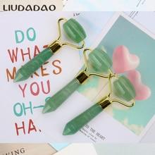 Mini Jade Rollers Green Aventurine Face Lift Tools Rollers Beauty Women