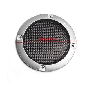 Image 5 - Rede protetora de alto falante, substituição de prata de alta qualidade, malha redonda, capa para grade do alto falante, 2/3 polegadas, 1 par acessórios