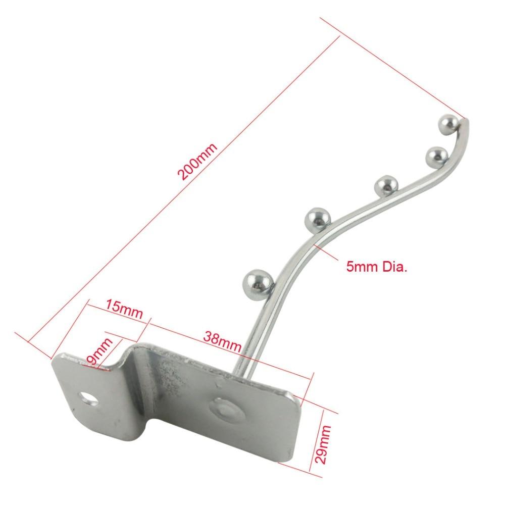 10pcs 200mm 8\'\' Length Supermarket Slatwall Hooks 5mm Wire Diameter ...