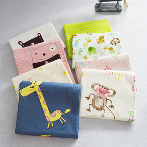Cartoon Print Cotton Fabric Qu