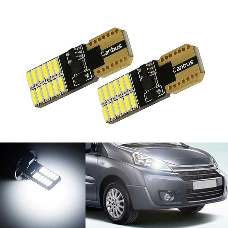 Boaosi 2x T10 Led 5050 4smd+1.5w Car Light Bulbs Projector Lens For Citroen C4 C5 C3 Grand Picasso Berlingo Xsara Saxo C1 C2 Ds3 Car Lights