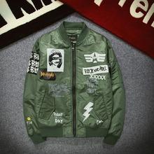 2017 New Arrival Men s Spring Summer Thin MA 1 Flight Jackets Fashion Print Rock Roll