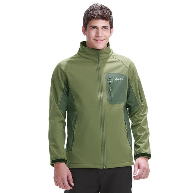 Rax Softshell Jacket Men Hiking Jackets Windproof Winter Jackets Outdoor Camping Jackets Thermal Coat 42-1E016