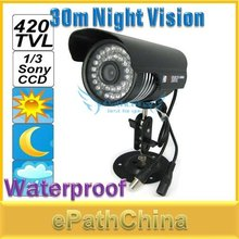 NEW Waterproof Weatherproof 420 TVL 1/3 Sony CCD Video Surveillance Security CCTV Camera with 30m IR Night Vision