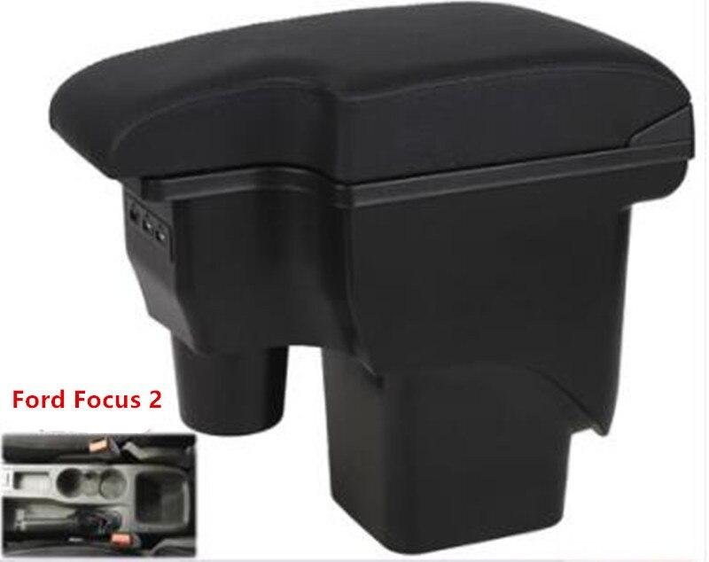 Para ford focus 2 caixa de apoio de braço mk2 apoio de braço loja central caixa de armazenamento conteúdo ford focus caixa de braço