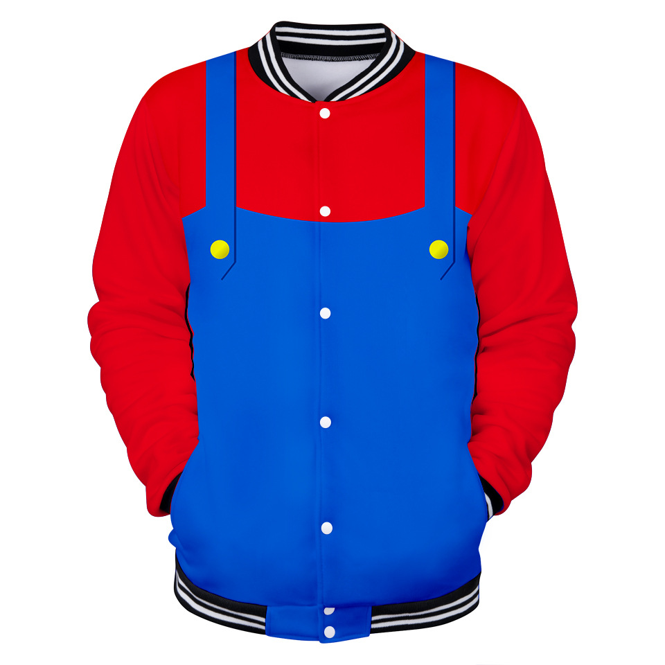 New unisex Super Mario  adult Clothing Halloween Cosplay Super Mario baseball uniform Costume