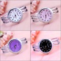 Ladies Fashion Silver Watch Women Luxury Brand Quartz Wristwatch With Rhinestone Steel Bangle Clock Female Horloge