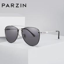 PARZIN New Sunglasses Men's Metal Frame Glasses For Driving Quality Nylon Lenses Profession UV Protection Sunglasses 8192 цена 2017