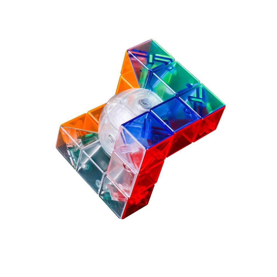 Zauberwürfel Rätsel & Spiele Mofangjiaoshi Geo C Geometrische Form Puzzle Abc Stickerless Transparent Geburtstag Geschenk Idee Xmas Krankheiten Zu Verhindern Und Zu Heilen