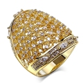 Women Rings for Party  gold and rhodium plated High Quality AAA+ CZ Diamond Big Rings Free shipment Full size