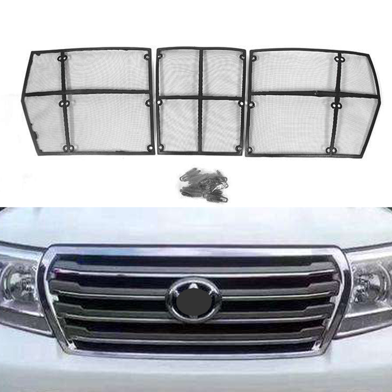 Pour Toyota Land Cruiser 200 FJ200 2008 2009 2010 2011 2012 2013 2014 2015 voiture insecte criblage maille Grille avant insérer Neting