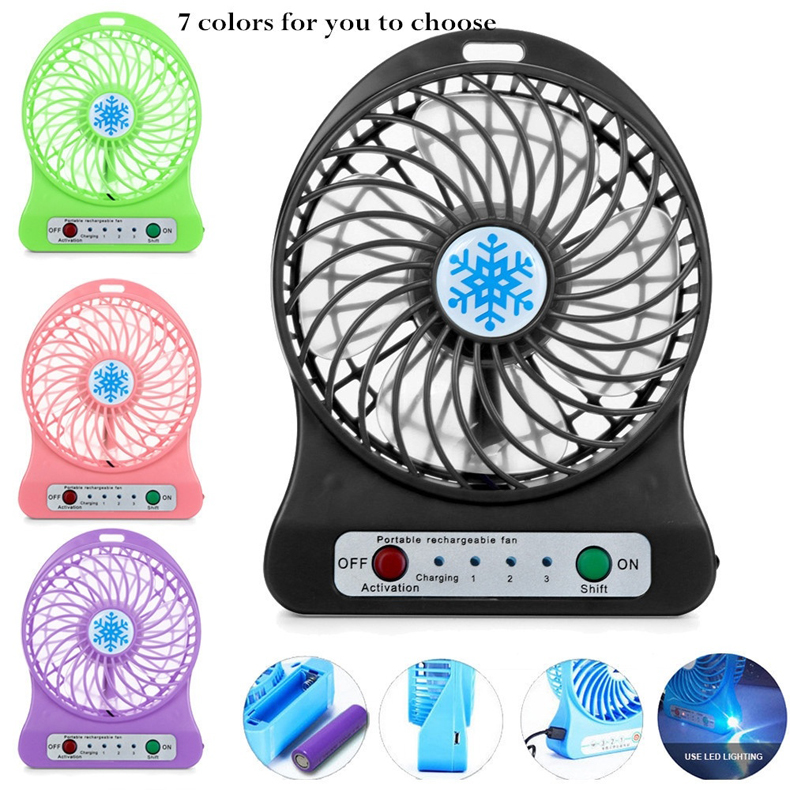 Min Fan Portable Air Conditioner Air Cooler Table Small Handheld Fan Desk Electric Hand Usb Table Room packing without battery in Fans from Home Appliances