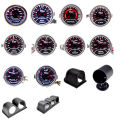 Boost/Water Temp/Oil Temp/Oil Press/Voltage/Tachometer/Air Fuel Ratio/EGT Gauge 52mm Analog led White Case+ 52MM Gauge Pods